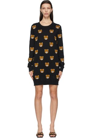 Moschino Knitted Allover Teddy Dress