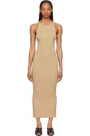 Totême Beige Rib Knit Tank Dress