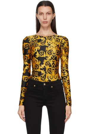 Versace Jeans Couture Baroque Long Sleeve Bodysuit