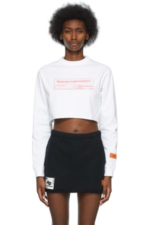 Heron Preston Cropped Captcha Long Sleeve T-Shirt