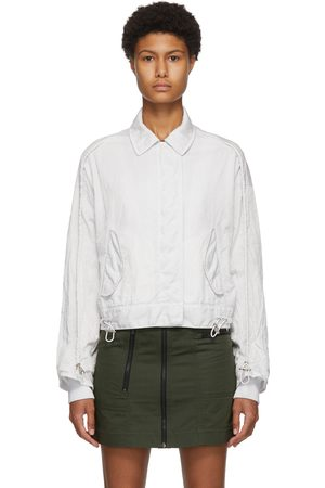 MCQ Off-White Drawstring Cropped Bomber