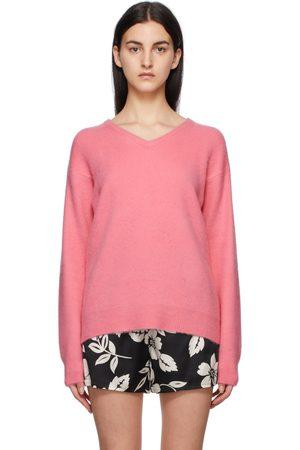 TOM FORD Pink Cashmere V-Neck Sweater