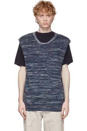 Ts(s) Navy Hand Dye Yarn Vest
