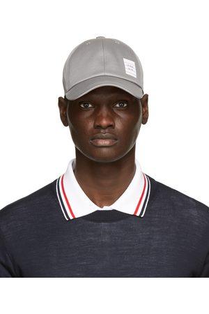 Thom Browne Grey Cotton Twill Baseball Cap