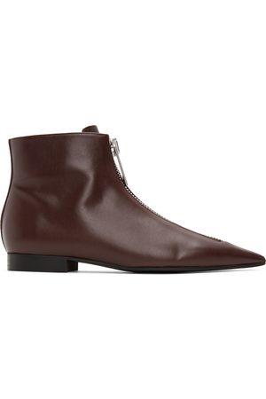 Stella McCartney Burgundy Zipit Ankle Boots