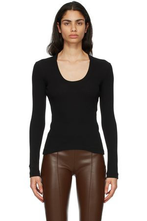 Rosetta Getty U-Neck Long Sleeve T-Shirt
