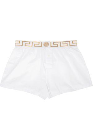 Versace Underwear White Greca Border Boxers