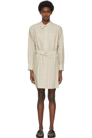 3.1 Phillip Lim Tan Striped Button Down Shirt Dress