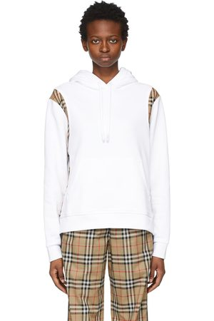 Burberry Oversized Vintage Check Panel Hoodie