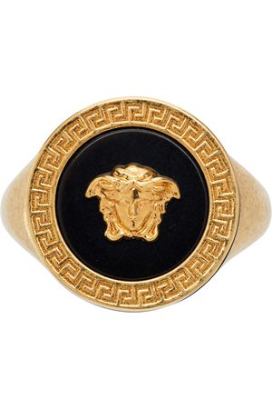 Versace Gold & Black Resin Medusa Ring