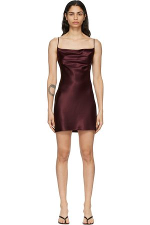 Fleur du Mal SSENSE Exclusive Burgundy Cowl Neck Slip Dress
