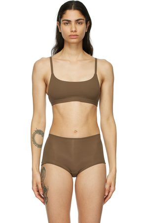 SKIMS Brown Fits Everybody Scoop Neck Bralette