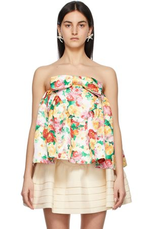 Shushu/Tong Multicolor Floral Strapless Top