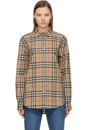Burberry Beige Vintage Check Caxton Shirt
