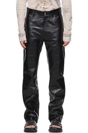 Givenchy Leather Croc Embossed Pants