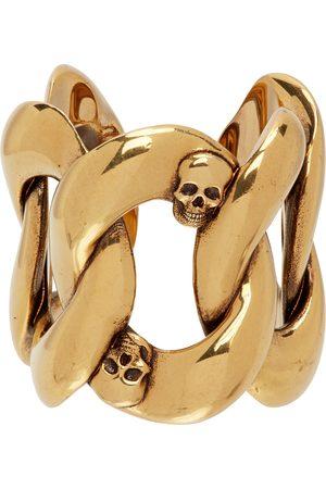 Alexander McQueen Gold Chain & Skull Ring
