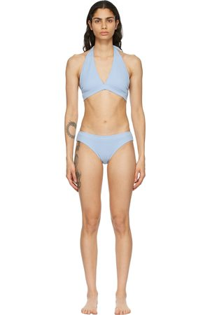 GANNI Blue Recycled Bikini