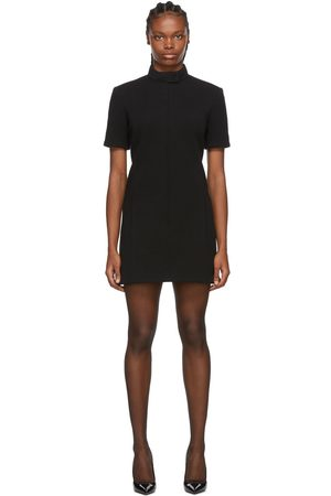 Saint Laurent Wool High Neck Dress