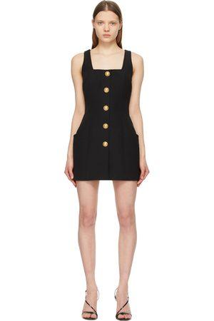Balmain Wool Sleeveless Button Dress