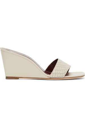 Staud Off- Snake Billie Wedge Sandals