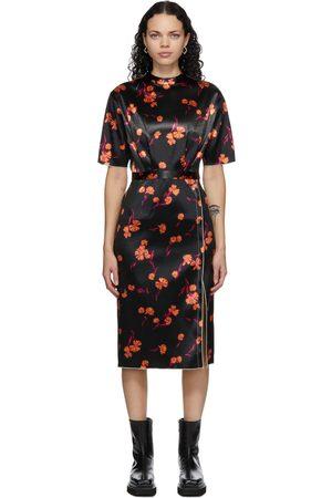 Meryll Rogge Bonded Satin Daisy Dress