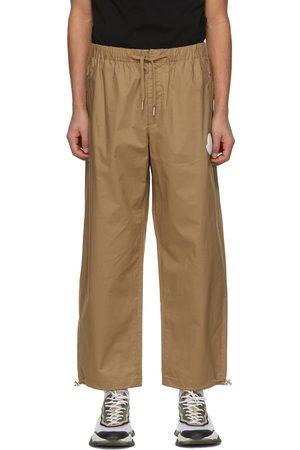 Moncler Khaki Cotton Ripstop Lounge Pants