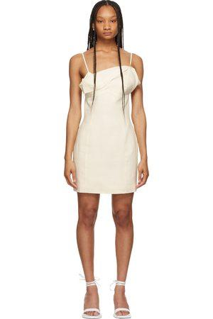 Jacquemus Off-White 'La Robe Drap' Dress