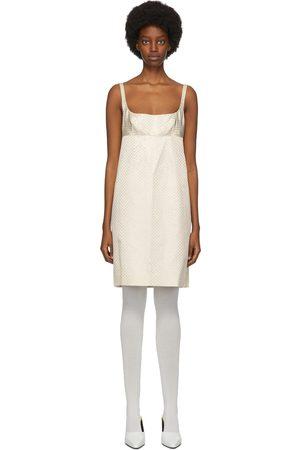Marc Jacobs Off- Polka Dot Glitter Mid-Length Dress