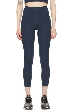 Girlfriend Collective Navy High-Rise Pocket Leggings