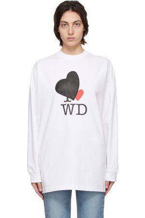 We11done Heart Patch Long Sleeve T-Shirt