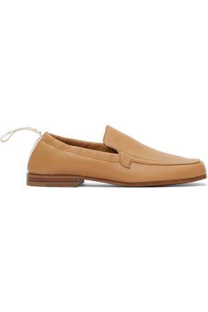 Loewe Tan Elasticated Loafers