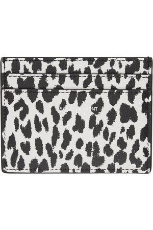 Saint Laurent Black & Leopard Print Card Holder