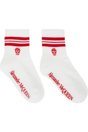 Alexander McQueen & Red Stripe Skull Sport Short Socks