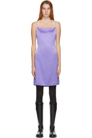 Helmut Lang SSENSE Exclusive Silk Open Back Mini Dress