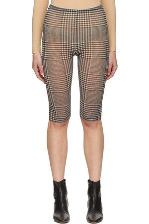 MM6 Maison Margiela & White Mesh Check Shorts