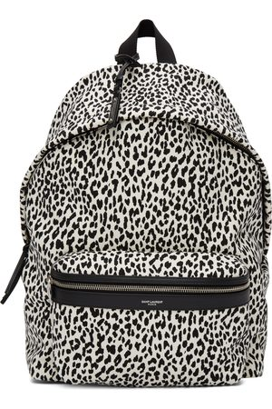 Saint Laurent White & Black City Backpack