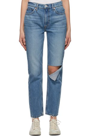 Women Straight - Re/Done Indigo 70s Straight Jeans