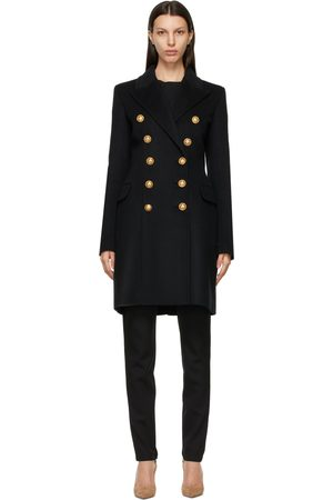 Balmain Wool Double-Breasted Coat