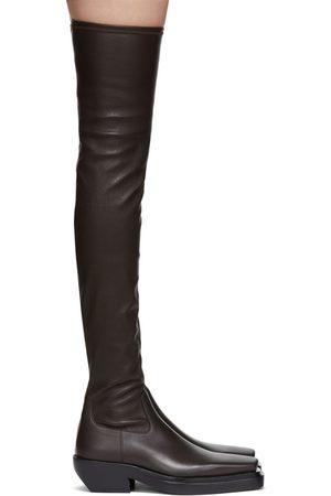 Bottega Veneta Brown 'The Lean' Tall Boots