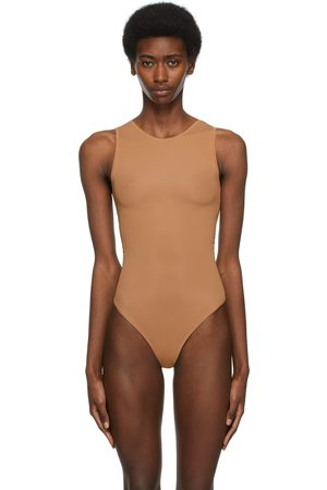 SKIMS Tan Jelly Sheer Crewneck Bodysuit