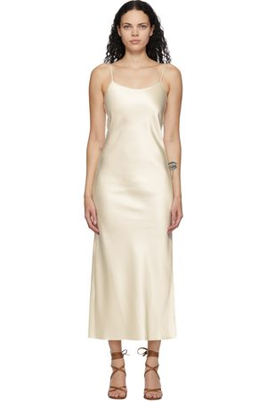 Marina Moscone Off- Heavy Satin Bias Slip Dress