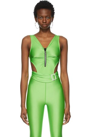 Pushbutton SSENSE Exclusive Jewelled Cut-Out Bodysuit