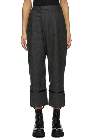 R13 Wool Tailored Cross Over Trousers