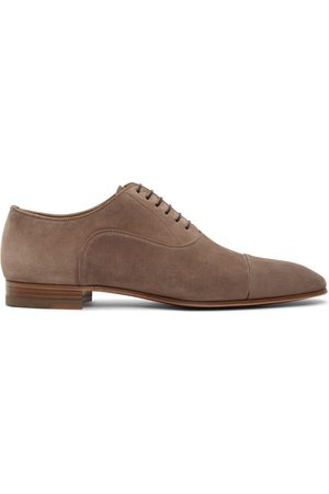 Christian Louboutin Taupe Suede Greggo Flat Oxfords