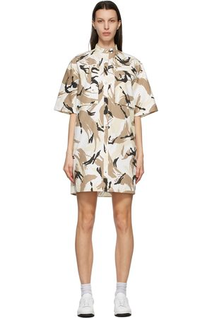 Kenzo Beige Tropic Camo Shirt Dress