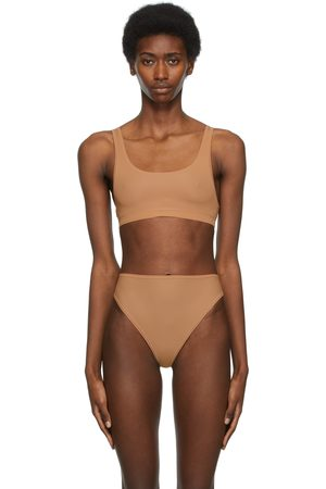 SKIMS Tan Jelly Sheer Scoop Neck Bralette