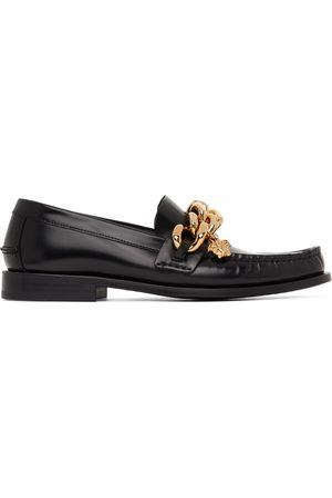 Versace Leather Medusa Chain Loafers