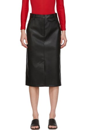 Pushbutton SSENSE Exclusive Faux-Leather & Denim Skirt