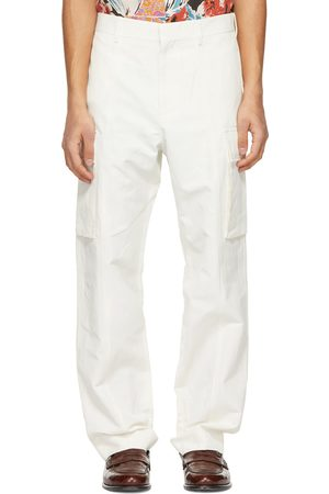 Stella McCartney Off- Shared Cotton & Linen Cargo Pants