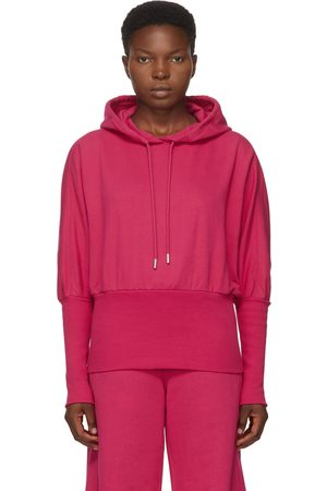 Opening Ceremony Pink Cropped Logo Hoodie